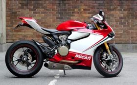 Картинка белый, красный, зеленый, мотоцикл, red, white, суперспорт