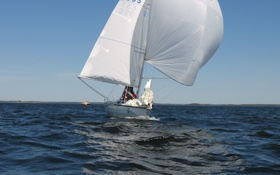 Обои парус, яхта, ветер, море