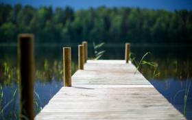 Картинка лето, вода, пирс, дорожка