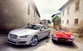 Картинка небо, Roadster, скорость, ягуар, E-Type, 2011, jaguar