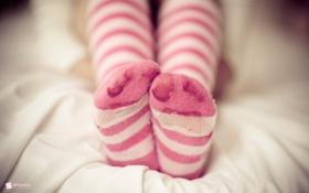 Обои Ноги, детские, носки