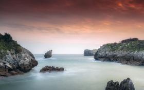 Обои природа, океан, скалы