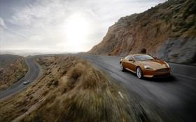 Картинка дорога, авто, Aston Martin
