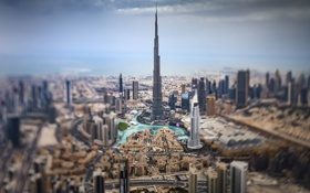 Обои облака, горизонт, Дубай, улицы, Бурдж-Халифа