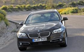 Обои машина, фары, капот, BMW, передок, xDrive, Touring