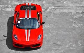 Обои Ferrari, F430, бетон, красная, феррари, red