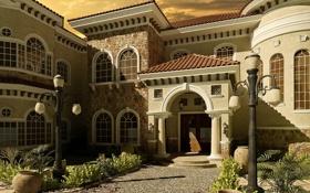 Обои дизайн, стиль, вилла, архитектура, exterier