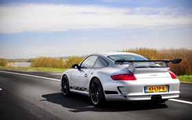 Картинка дорога, скорость, 997, Porsche, суперкар, supercar, порше
