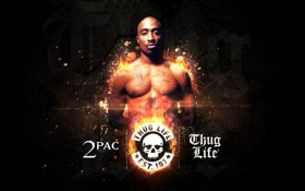 Обои music, actor, 2Pac, Tupac Shakur, rap, rapper, hip hop
