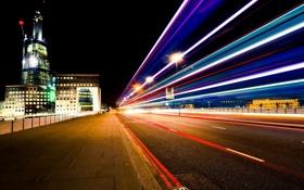 Картинка ночь, lights, огни, Англия, Лондон, night, London