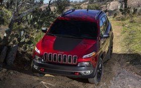 Картинка Jeep, car, suv, auto, red, wallpapers, Trailhawk