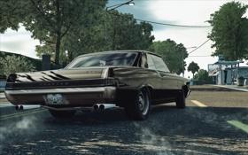 Обои город, гонка, занос, автомобиль, Pontiac GTO, Need for Speed Undercover