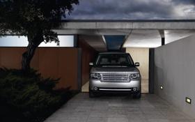 Обои silver, лэнд ровер, серебристый, Range Rover, Land Rover, рендж ровер, ночь