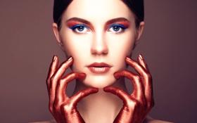 Обои портрет, макияж, beautiful young woman