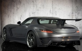 Обои авто, тюнинг, Mercedes-Benz, спойлер, SLS, carbon, задок