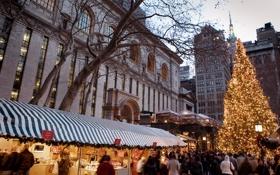 Картинка city, город, USA, Christmas, NYC, winter, New_York