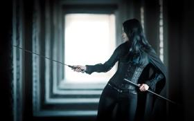 Обои девушка, оружие, меч