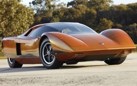 Обои концепт, ураган, 1969, передок, Concept Car, ораньжевый, Hurricane