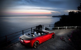 Обои море, car, машина, небо, вода, свет, пейзаж