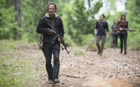 Обои Ходячие мертвецы, Рик Граймс, калаш, Andrew Lincoln, The Walking Dead