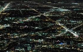 Картинка ночь, огни, мегаполис