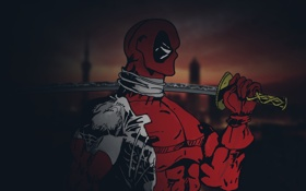 Обои Deadpool, Marvel, Дэдпул, суперзлодей