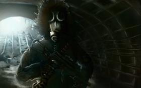 Картинка метро, москва, солдат, Metro 2033, артем