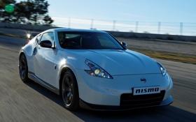 Обои авто, трасса, Nissan, передок, 370Z, Nismo
