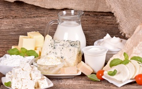 Картинка масло, сыр, молоко, творог, сметана, продукты