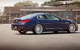 Обои BMW, blue, tuning, coupe, 650i, F13