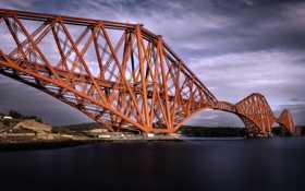 Картинка Scotland, Edinburgh, Firth of Forth Bridge
