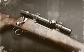 Обои оружие, фон, винтовка, снайперская, Lee-Enfield, Ли-Энфилд