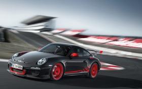 Обои красный, драйв, скорость, Porsche, диски