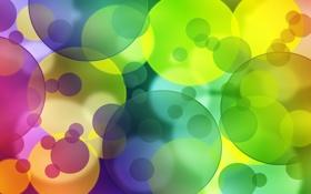 Картинка круги, абстракция, узоры, краски, colors, circles, patterns