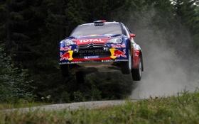 Обои Citroen, DS3, WRC, Rally, Sebastien Loeb, Передок, В Воздухе