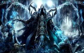 Обои тьма, магия, мрак, разрушение, хаос, diablo 3, Reaper of Souls