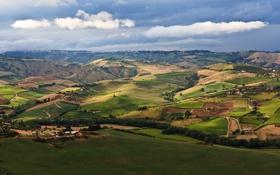 Картинка landscape, пейзаж, nature, трава, небо, 2560x1600, greenery