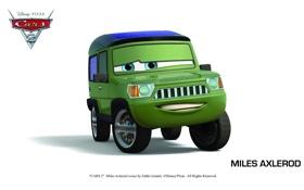 Обои pixar, машинки, тачки 2, cars 2, miles axlerod