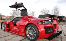 Картинка суперкар, red, Gumpert, supercar, Apollo, Sport