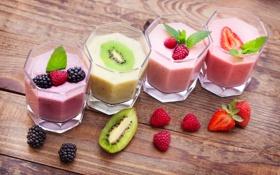 Картинка коктейль, фрукты, fresh, fruit, drink, cocktail, milk