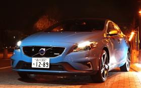 Картинка свет, фары, Volvo, передок, вольво, V40, R-Design