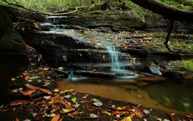 Обои вода, река, камни, водопад, поток, river, rocks