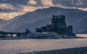 Картинка река, замок, Холмы