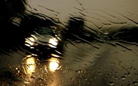 Картинка авто, дождь, погода, свет.