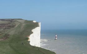 Обои небо, люди, обои, маяк, мыс, Beachy Head, на южном побережье Великобритании