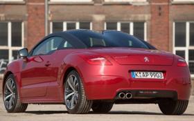 Картинка красный, купе, Peugeot, RCZ, автомобиль, вид сзади