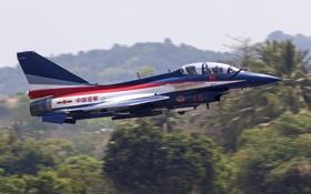 Обои истребитель, взлет, китайский, многоцелевой, всепогодный, Chengdu, J-10SY