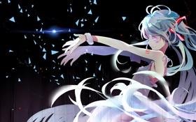 Картинка девушка, абстракция, аниме, арт, vocaloid, hatsune miku, longyuyi