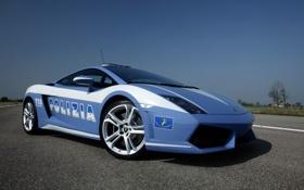Картинка дорога, полиция, Lamborghini