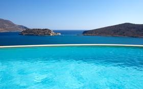 Обои море, острова, настроение, вид, бассейн